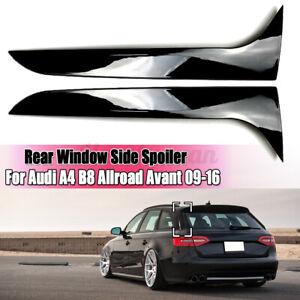 Pair Rear Window Spoiler Canards Splitter Black For Audi A4 B8 Allroad Avan