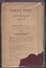 Whos Who in  Australia.1927-8 by Fred Johns