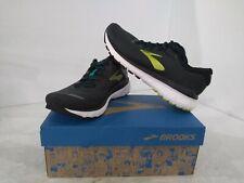 Brooks Men's Adrenaline Gts 20 Running Shoes, Black/Lime, 7.5