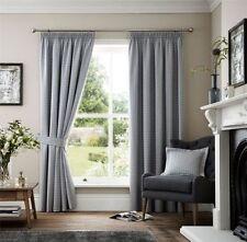 Rideaux et cantonnières gris avec des motifs Brodé pour la maison