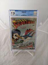 Superman #20 Golden Age 1943 Comic CGC Certified 7.5