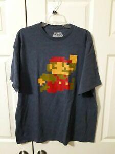Nintendo Super Mario Bros Gray Crew Neck T-Shirt Men's Size XL