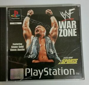 PS1 Wf War Zone Game for PlayStation 1 Ps1 Complete GOOD Condition