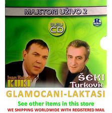 2CD MAJSTORI UZIVO 2 IVAN KUKOLJ KUKI SEKI TURKOVIC narodna koncertni album folk