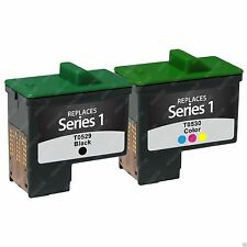 2PK Black and Color Ink for Dell A920 A720 Inkjet Cartridge TO530 TO529