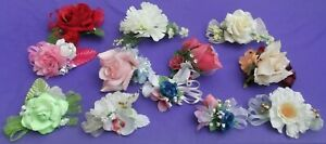 Assorted Bespoke Flower Wrist Corsages , -  Wedding; Prom; Party.