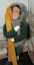 Byers Choice Caroler Girl with Skis 1995 4/100 *