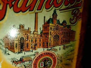 VINTAGE PRE-PROHIBITION C. PFEIFFER FAMOUS Beer Tray Sign Tin SHONK LITHO Bottle