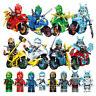 Ninjago Figures Ninja Motorbike Toy Use with Lego Mini Figure Lloyd Zane Kai