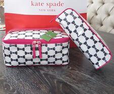 Kate Spade New York Tuxedo Bow Court Large Colin Cosmetic Case Bag NWT RARE