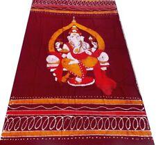 Ganesh Batik Bedspread Cotton Handmade Single Wall hanging Throw Decor India