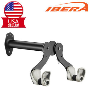 Ibera Wall Mount Bike Rack Hook Holder Indoor Storage Stand Hanger 45°Adjustable