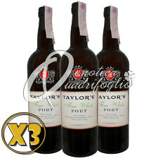 3 VINO PORTO TAYLOR'S FINE WHITE PORT WINE PRODUCT OF PORTUGAL