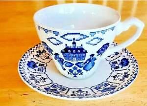 Vintage J&G Meakin Royal Staffordshire Ironstone Tea Cup & Saucer Needlework