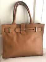FURLA WOMEN'S SATCHEL BROWN LEATHER DOUBLE HANDLES HANDBAG