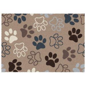 Waschbare Fußmatte Tatzen Hunde Katzen groß Schmutzfangmatte Türmatte Bodenmatte
