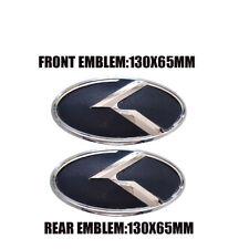 2x For KIA Forte Ceed Cerato Koup 2009-2013 K Logo 3D Grill Hood Rear emblem