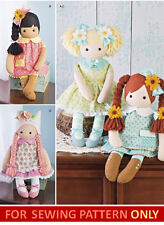 SEWING PATTERN! MAKE 23 INCH CLOTH RAG DOLLS~CLOTHES~SHOES~HAT PLUSH~STUFFED TOY