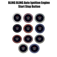 Bling Crystal Diamond Decal Sticker Ignition Engine Start Button Cover Clear
