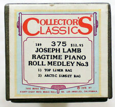 "JOSEPH LAMB ""Ragtime Piano Roll Medley No. 3"" COLLECTORS CLASSICS [PIANO ROLL]"
