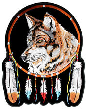 Wolf With Feathers Native Indian Dream Catcher Patch FREE SHIP