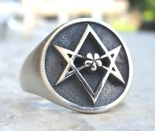 Solid Sterling Silver 925 3D Unicursal Hexagram Ring All Size