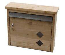 Briefkasten aus Holz Lärchenholz mit 2 Rauten Sichtfenster Made in Germany