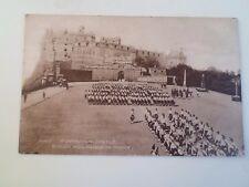 Vintage Postcard GORDON HIGHLANDERS ON PARADE EDINBURGH CASTLE    §A264