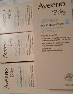 4 x  Aveeno Baby Dermexa Moisturising Wash 300ml NEW
