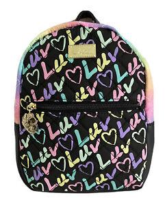 "💋Luv Betsey By Betsey Johnson Mini Backpack Bag 9""H x 7""W x 3""D TIE DYE LBMANDY"