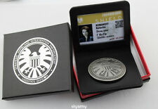 Marvel Agents of shield Badge with Holder Black widow Natasha -A set -Replica