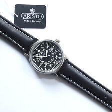 Aristo 5H97, Fliegeruhr, Beobachter, Armbanduhr, Titan, Lederband, Quarz
