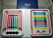 Primary Colored Denise Interchangeable Knitting Needles Kit Free S/H +Bonus Gift
