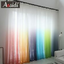 Tulle Curtain Window Net Curtains Sheer Voile Drape Room Door Divider