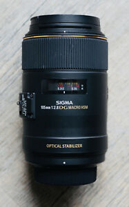 Sigma 105mm F2.8 EX DG Macro Nikon F HSM Très Bon État / Boîte / Accessoires