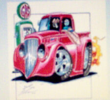 """T-Shirts - 35 Truck (A10587F) 11""""x 11.25"""" on White"""