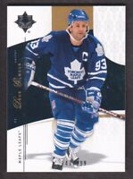 2009-10 Ultimate Collection Hockey #51 Doug Gilmour 247/399 Toronto Maple Leafs