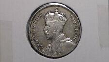 FIJI ISLANDS - 1936  SHILLING - COLONIAL ERA - PREDECIMAL COIN. Silver 50%.