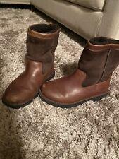 UGG Australia Beacon Boots Mens 9 Leather Sheepskin Brown S/N 5485