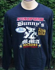 Men's Rare Strikeforce Mixed Martial Arts  MMA  Black Long Sleeve Shirt Sz Large