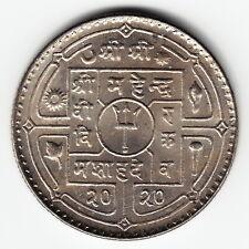 NEPAL 1 Rupee 2020 1963 KM785 last date Cu-Ni Mahendra TOP GRADE - VERY RARE !