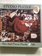"New 500 Piece ""Just One More Stitch"" Christmas Santa Studio Puzzle  01-4615 -M7"