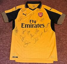 ARSENAL FC AUTHENTIC HAND SIGNED 2016/17 AWAY SHIRT WITH COA UACC MEMBER