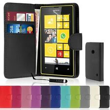 PU LEATHER BOOK WALLET CASE COVER FOR NOKIA LUMIA 830 WITH FREE STYLUS PEN