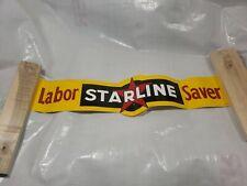 VINTAGE STARLINE BARN EQUIPMENT Labor Saver STICKER FARM Feed seed decal Sign