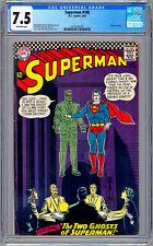 SUPERMAN #186 CGC 7.5 *CURT SWAN AL PLASTINO ART* CURT SWAN CVR BATMAN APP 1966