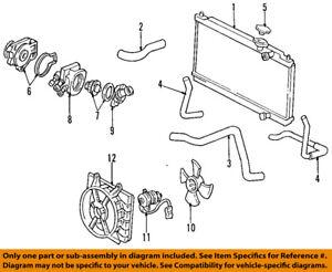 Acura HONDA OEM 94-01 Integra Radiator Coolant-Lower Hose 19502P72000