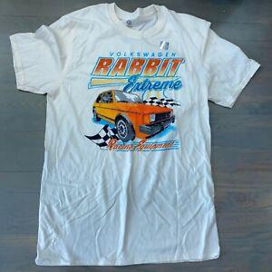 Volkswagen VW Rabbit Extreme Racing Equipment Beige T-Shirt Tee Men's Sz Medium