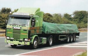 COL PHOTO: STAMPERS SCANIA 113 ARTIC FLAT TRAILER - G508 LHH