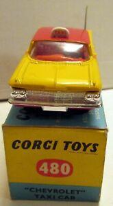 Corgi Toys 480 Chevrolet Impala Taxi Cab,       original